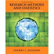 Research Methods and Statistics A Critical Thinking Approach