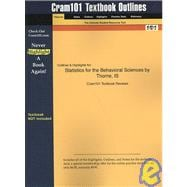 Outlines and Highlights for Statistics for the Behavioral Sciences by Thorne, Isbn : 9780072832518