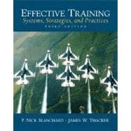 Effective Training : Systems, Strategies and Practices