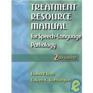 Treatment Resource Manual For Speech - Language Pathology