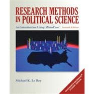 Research Methods in Political Science: An Introduction Using MicroCase� ExplorIt, 7th Edition