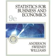 Statistics for Business and Economics (With Student CD-ROM, Ipod Key Term, and Infotrac)