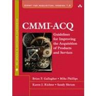 CMMI-ACQ Guidelines for Improving the Acquisition of Products and Services