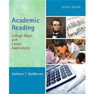 Academic Reading College Major and Career Applications (with MyReadingLab Pearson eText Student Access Code Card)
