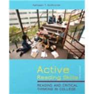 Active Reading Skills : Reading and Critical Thinking in College (with NEW MyReadingLab with Pearson eText Student Access Code Card)
