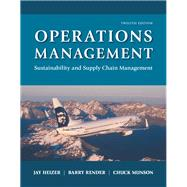 Operations Management Sustainability and Supply Chain Management