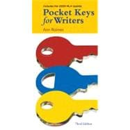 Pocket Keys for Writers, 2009 MLA Update Edition