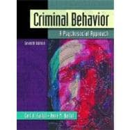 Criminal Behavior : A Psychological Approach