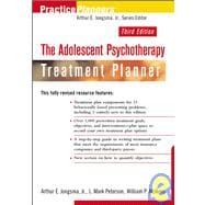 The Adolescent Psychotherapy Treatment Planner, 3rd Edition