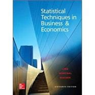 Statistical Techniques in Business and Economics, 16/e