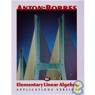 Elementary Linear Algebra, Applications Version, 8th Edition