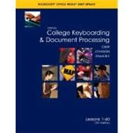 Gregg College Keyboarding and Document Processing (GDP), Word 2007 Update, Kit 1, Lesson 1-60 w/Home Software 2. 0