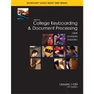 Gregg College Keyboarding and Document Processing (GDP), Word 2007 Update, Kit 3, Lessons 1-120 w/Home Software 2. 0