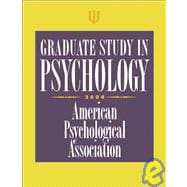 Graduate Study in Psychology : 2004 Edition