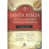 RVR 1960 Bíblia Letra Grande Tamaño Manual con Referencias, negro piel fabricada