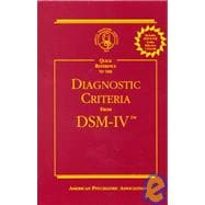 Quick Reference to the Diagnostic Criteria from DSM-IV