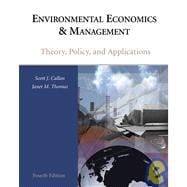 Environmental Economics and Management : Theory, Policy, and Applications