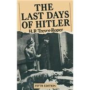 The Last Days of Hitler 9781349040681R