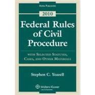 Federal Rules Civil Procedure W/ Select Statutes & Material 2010 [Paperback]