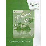 Study Guide Solutions, Chapters 1-9 for Heintz/Parry�s College Accounting, 20th + Combination Journal Module