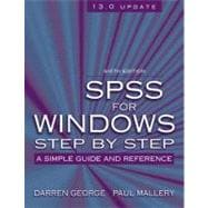 SPSS for Windows Step by Step : A Simple Guide and Reference, 13.0 Update