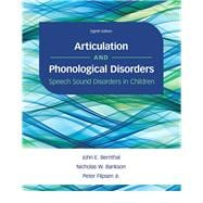 Articulation and Phonological Disorders Speech Sound Disorders in Children