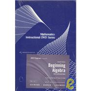 DVD for Aufmann/Barker/Lockwood's Beginning Algebra with Applications, 7th