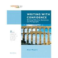 Writing with Confidence: Writing Effective Sentences and Paragraphs, VangoBooks Value Pack (includes MyWritingLab Student Access& Study  for Writing Skills Summary for the Florida State Exit Exam )