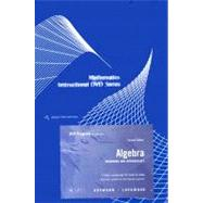 Instructional DVD Series for Aufmann/Lockwood's Algebra: Beginning and Intermediate, 2nd