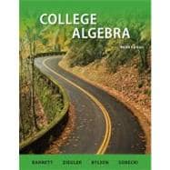 Combo: College Algebra with Student Solutions Manual
