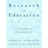 Research in Education: A Conceptual Introduction