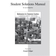 Student Solutions Manual for Mathematics for Elementary Teachers