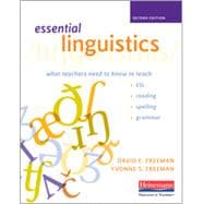 Essential Linguistics: What Teachers Need to Know to Teach ESL, Reading, Spelling, and Grammar