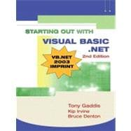 Starting Out with Visual Basic. NET