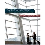 Sales Management : Building Customer Relationships and Partnerships