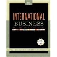 International Business : Environments and Operations