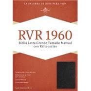 RVR 1960 Biblia Letra Grande Tamaño Manual con Referencias, negro piel fabricada