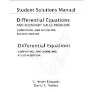 Student Solutions Manual for Differential Equations and Boundary Value Problems Computing and Modeling