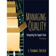 Managing Quality: Integrating The Supply Chain and Student CD PKG