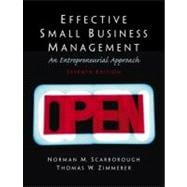Effective Small Business Management: A Entrepreneurial Approach