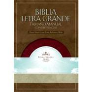 RVR 1960 Biblia Letra Grande Tama�o Manual con Referencias, borravino/perlado s�mil piel