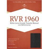 RVR 1960 Biblia Letra Grande Tama�o Manual con Referencias, negro imitaci�n piel con �ndice