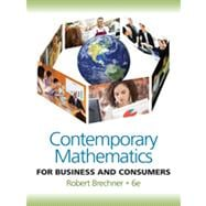 Contemporary Mathematics for Business and Consumers (with Student Resource CD with MathCue. Business)