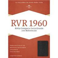 RVR 1960 Biblia Compacta Letra Grande con Referencias, negro imitación piel