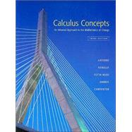 Calculus Concepts An Informal Approach to the Mathematics of Change