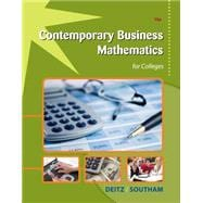Contemporary Business Mathematics for Colleges (with Printed Access Card)