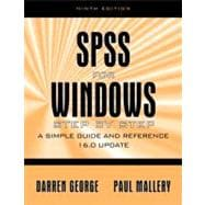SPSS for Windows Step by Step: A Simple Study Guide and Reference, 17.0 Update