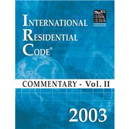 2003 International Residential Code Commentary