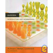 DVD for Aufmann/Barker/Lockwood's Algebra: Introductory and Intermediate, 4th