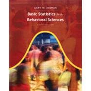 Basic Statistics for the Behavioral Sciences, 6th Edition